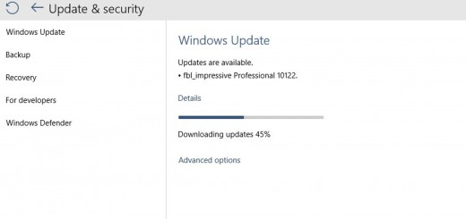Windows 10 Insider Preview Build 10122