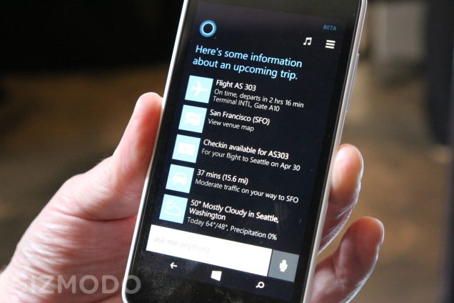 Cortana - Upcoming Travel Info