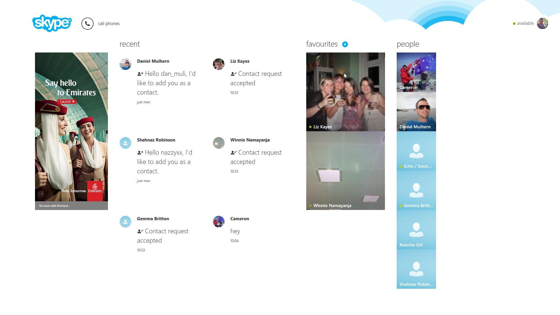Skype Modern App