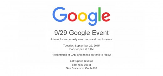 Google - September 29 Event Invite