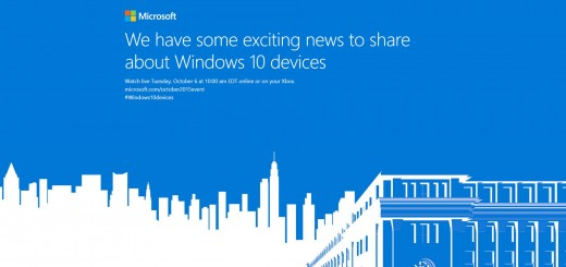 Microsoft October 2015 Windows 10 Event Invite