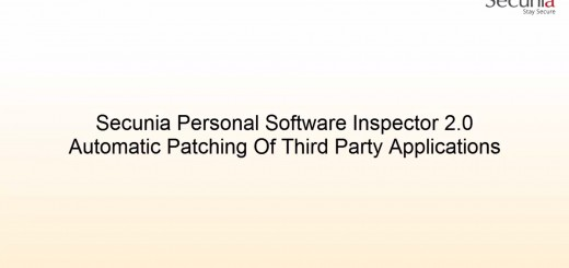 Secunia Personal Software Inspector 2.0
