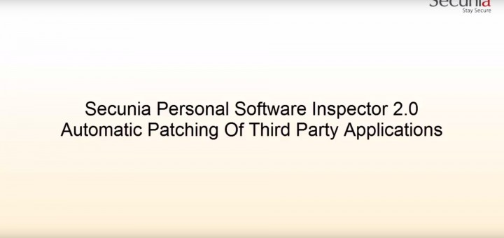 Secunia Software Inspector