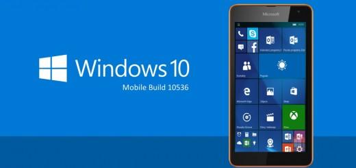 Windows 10 Mobile - Build 10536