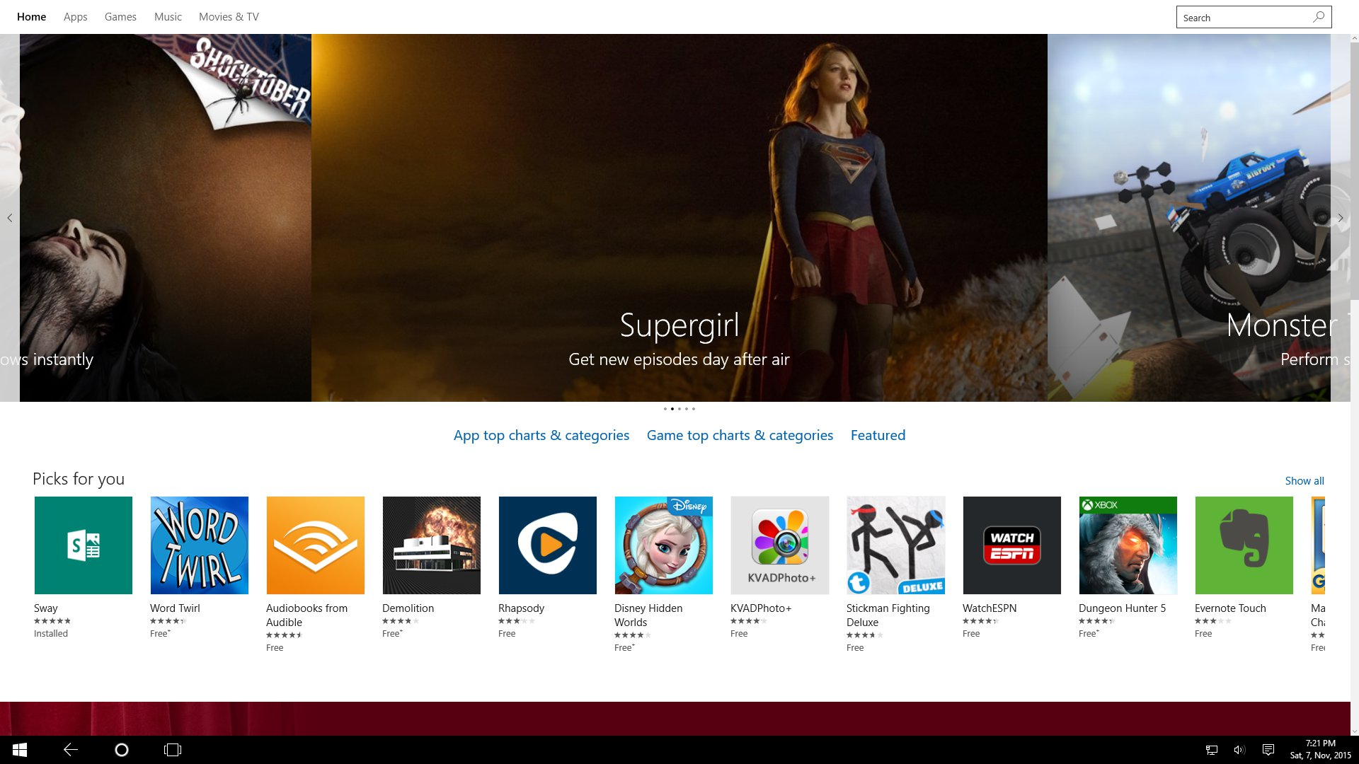 Windows Store - Home