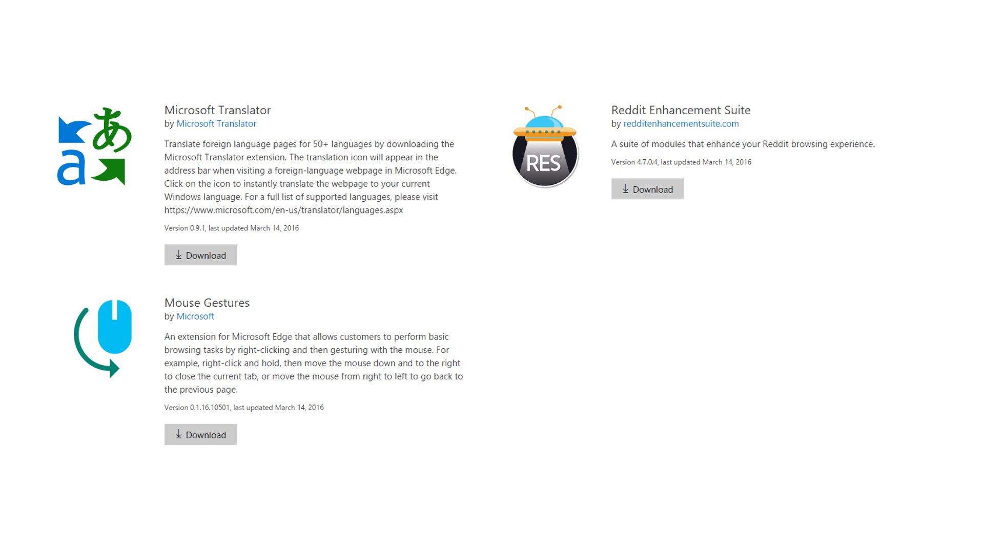 Microsoft Edge - Extensions