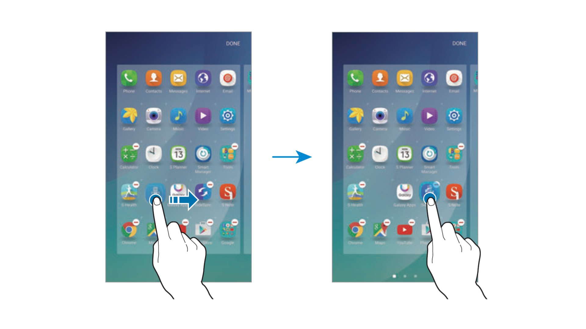 Samsung Galaxy Note 5 - Creating Folders In App Screen
