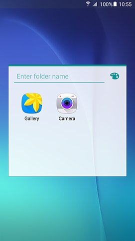 Samsung Galaxy Note 5 - Enter A Name For Folder & Change Its Colors