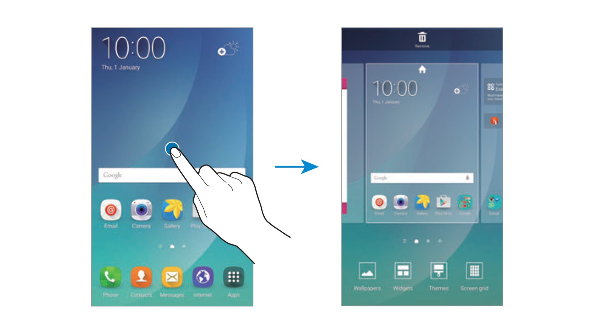 Samsung Galaxy Note 5 - Home Screen Options