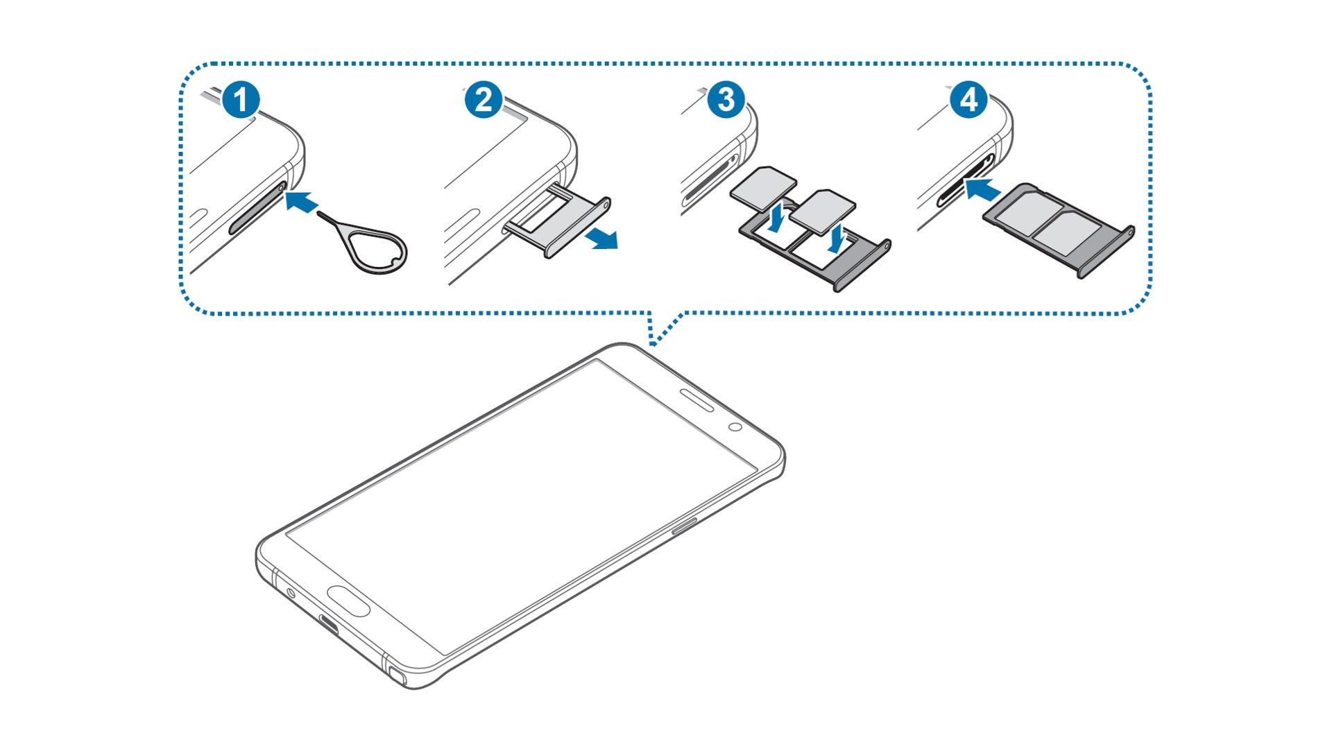 Samsung Galaxy Note 5 - Insert SIM Card In Dual SIM Model