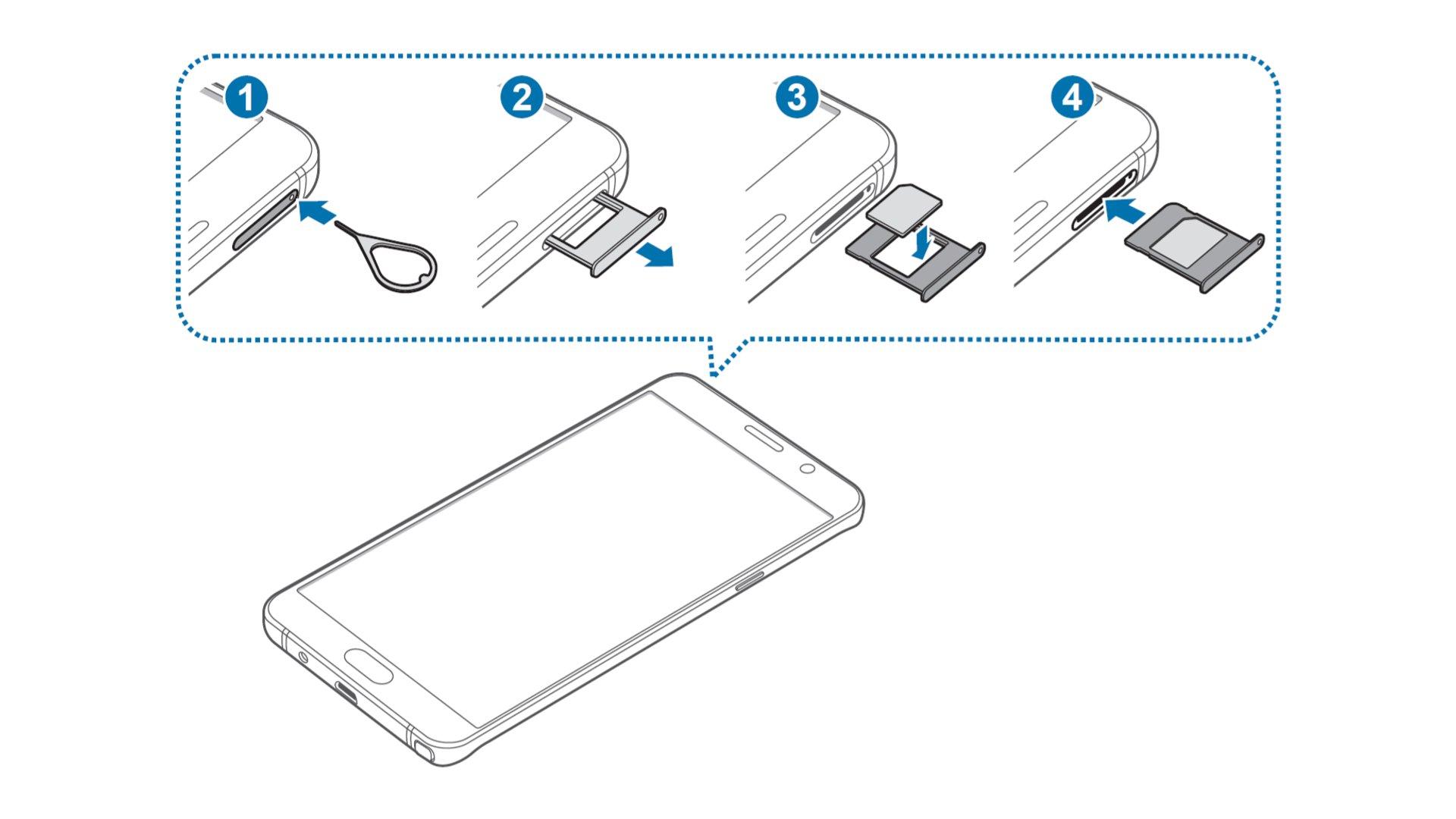 Samsung Galaxy Note 5 - Insert SIM Card In Single SIM Model