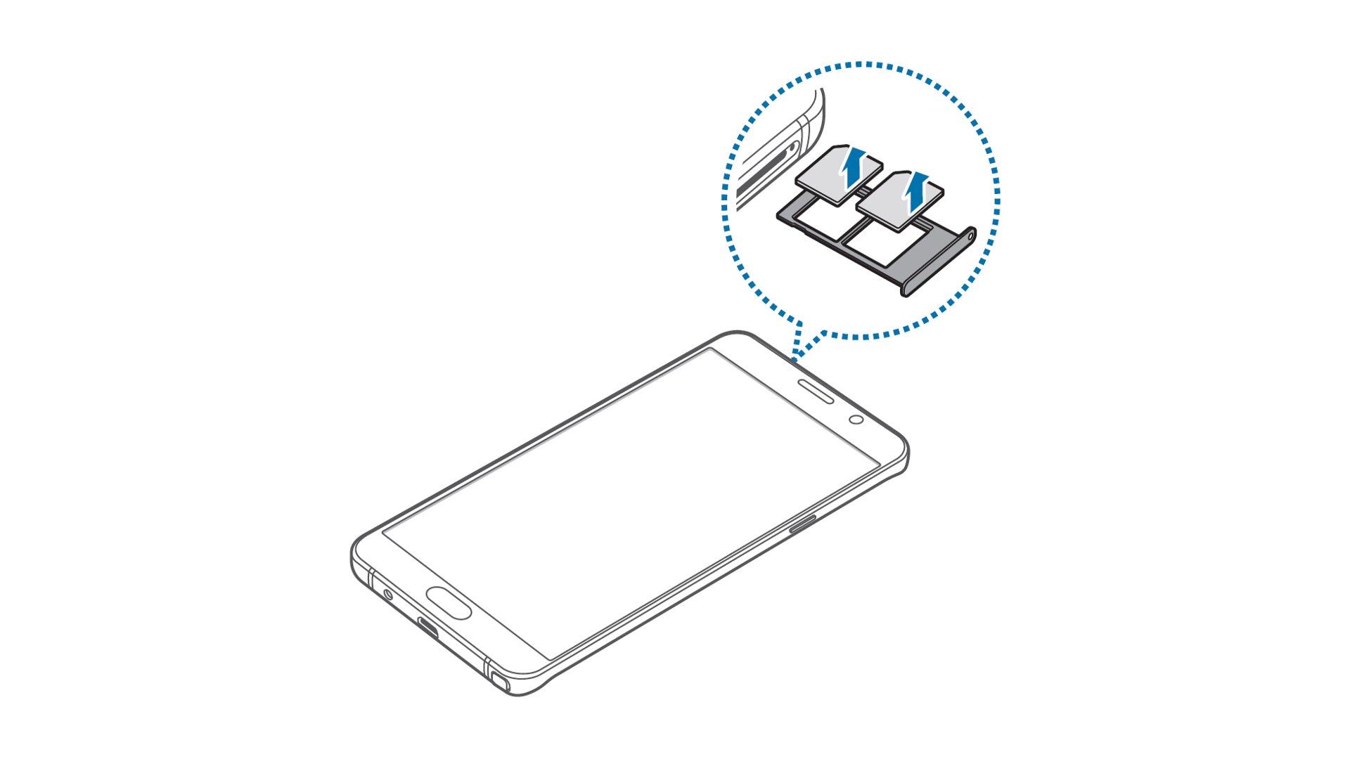 Samsung Galaxy Note 5 - Remove SIM Card In Dual SIM Model