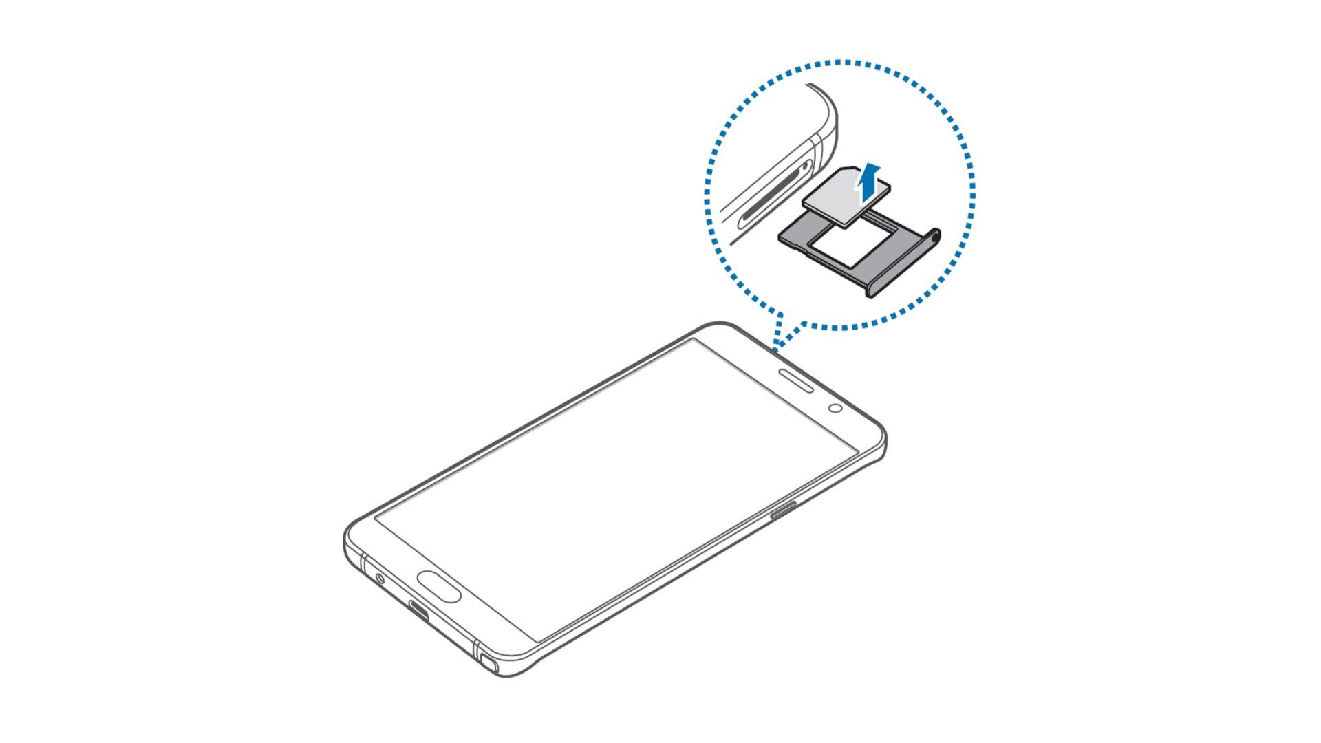 Samsung Galaxy Note 5 - Remove SIM Card In Single SIM Model