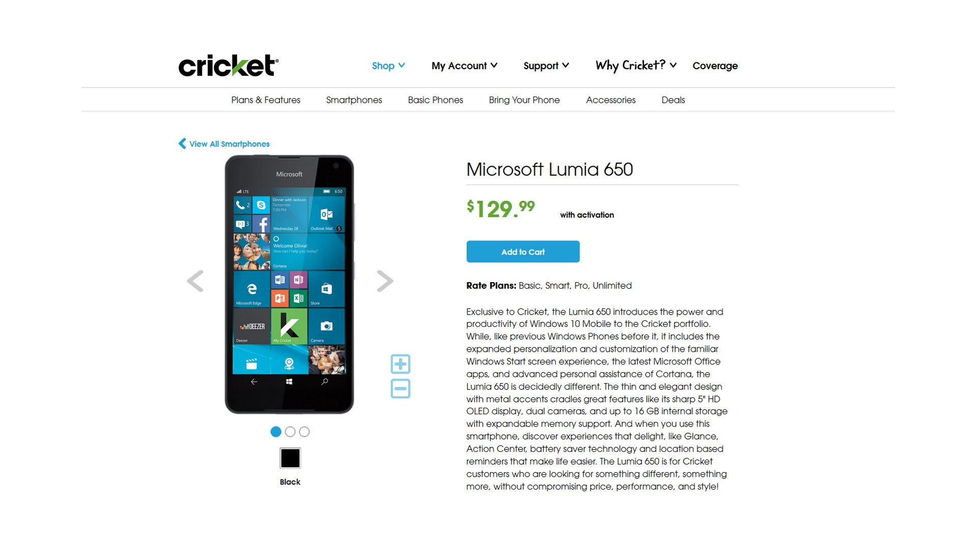 Lumia 650 Available At Cricket Wireless In US