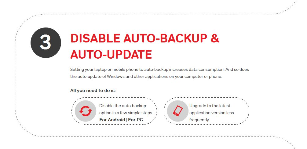 Airtel - Advice To Disable Auto Update
