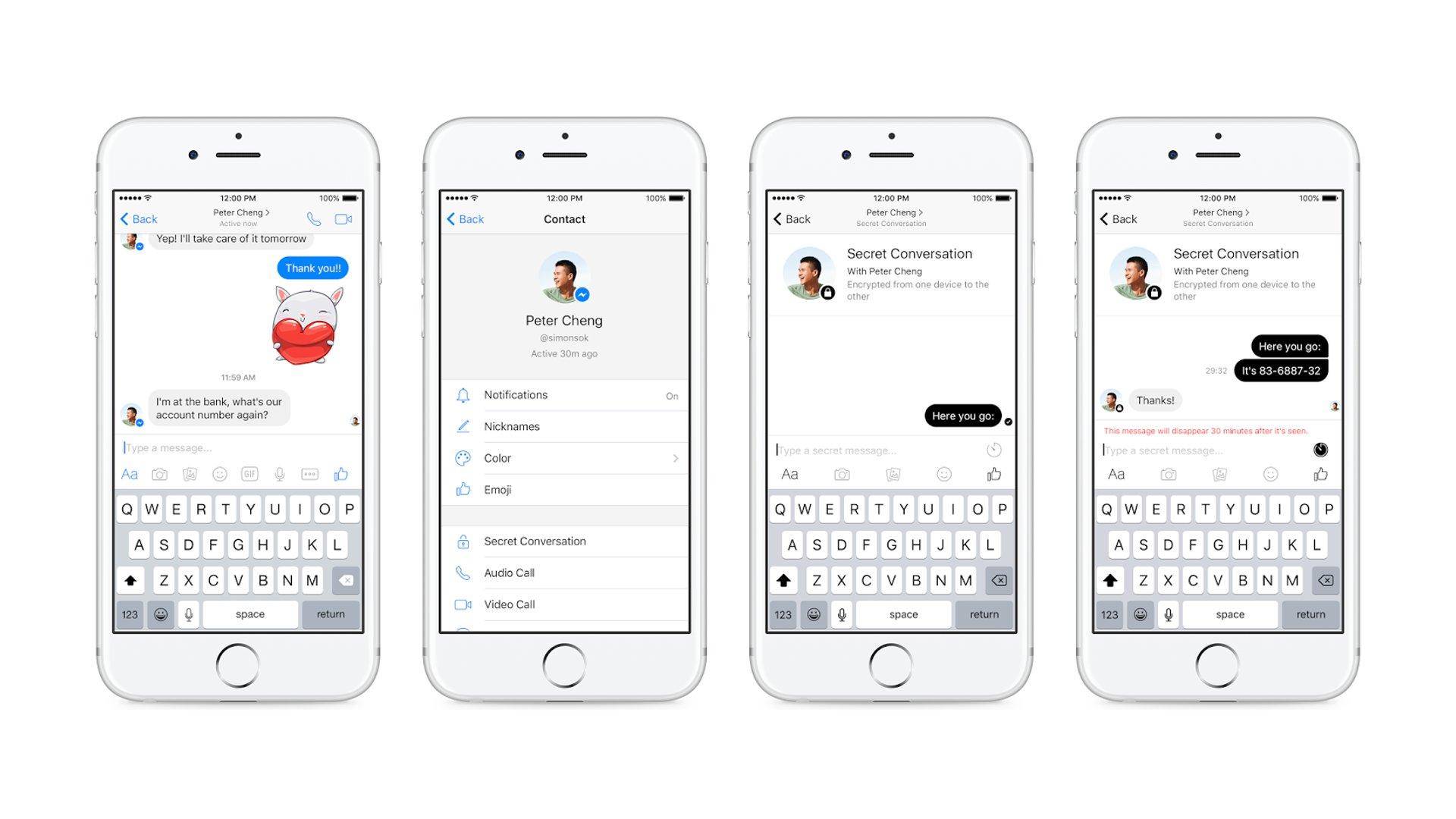 Facebook Messenger - Secret Conversation