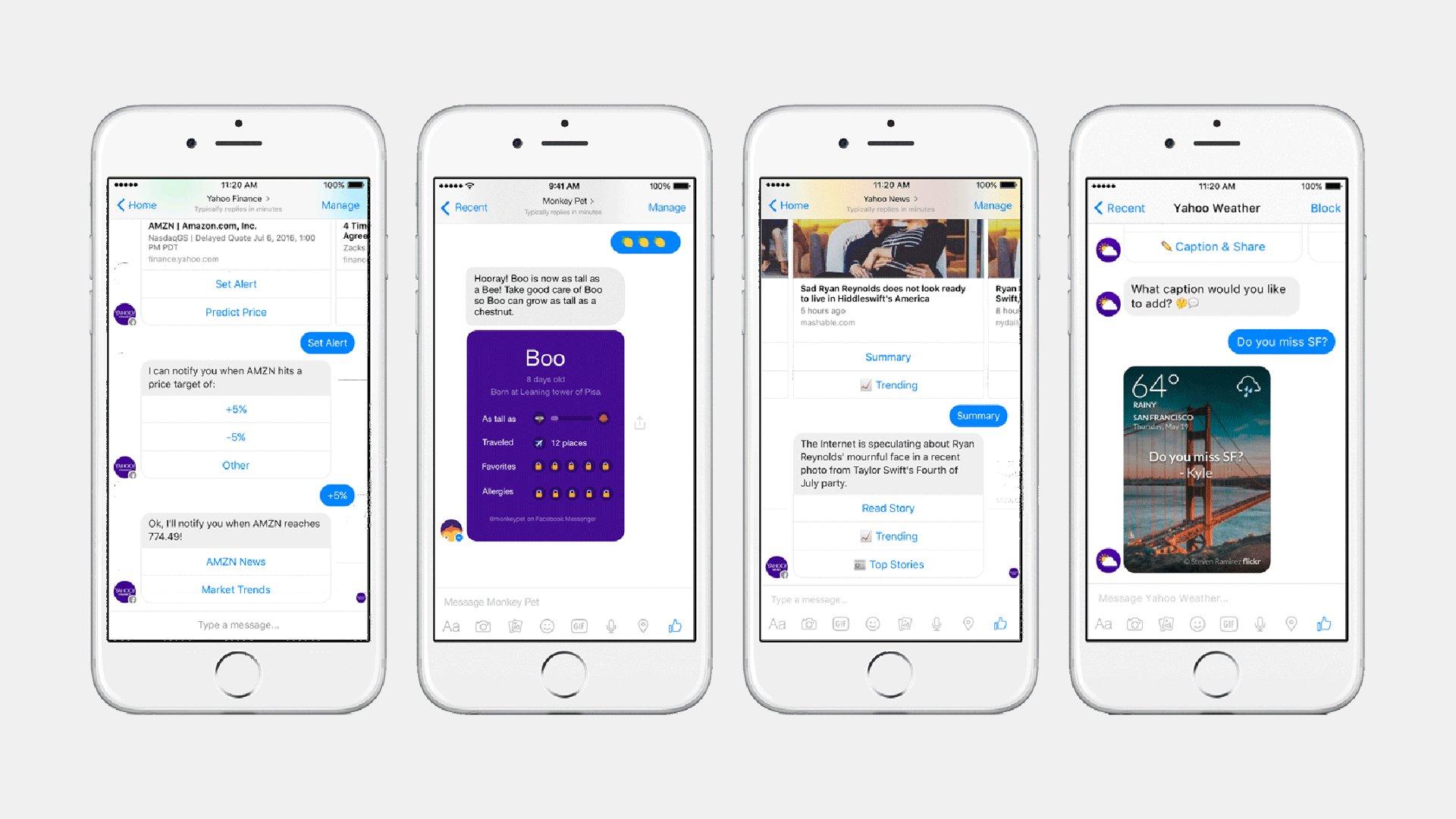 Yahoo Chatbots For Facebook Messenger