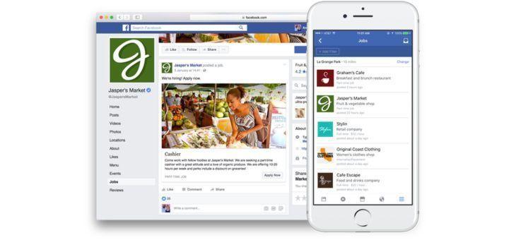 Facebook Jobs - Desktop & Mobile Experience