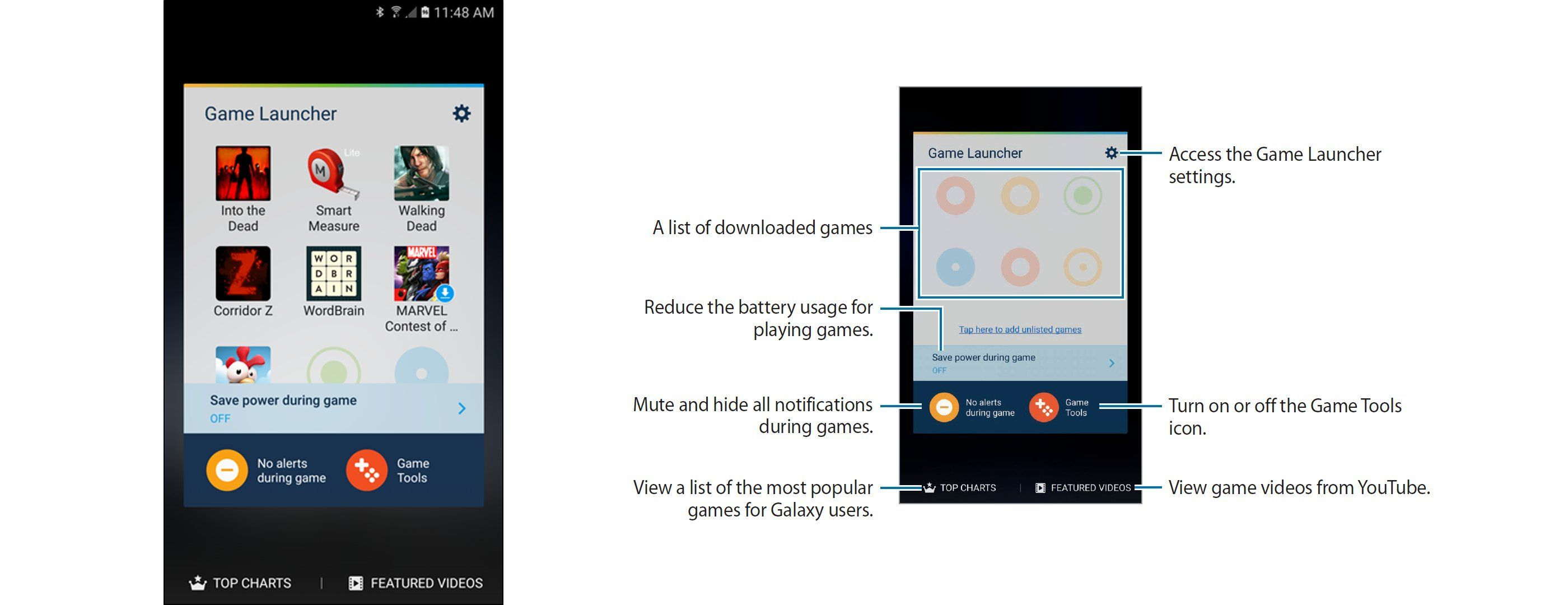 Samsung Game Launcher Icons Explained