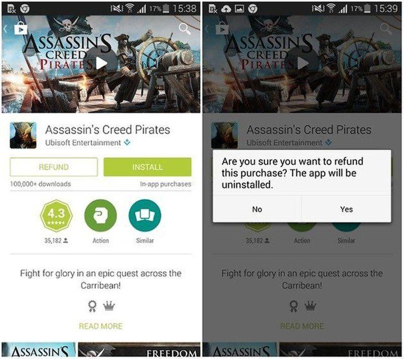 Google Play - Request Refund
