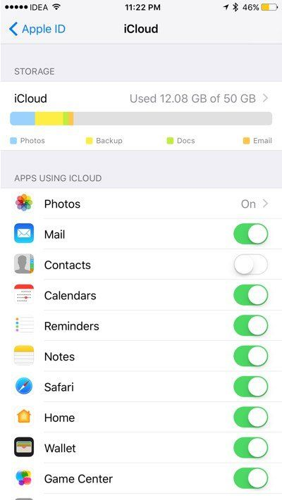 iOS 10.3 - Redesigned iCloud Settings Page