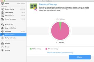 Movavi Mac Cleaner - Memory Cleanup