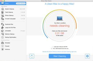 Movavi Mac Cleaner - Status