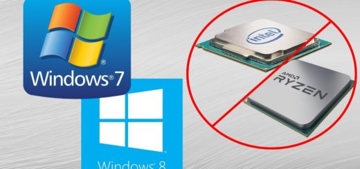 No Windows 7/8.1 Updates For Intel Kaby Lake And AMD Ryzen Processors