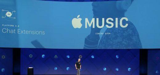 Facebook Messenger - Apple Music Chat Extension