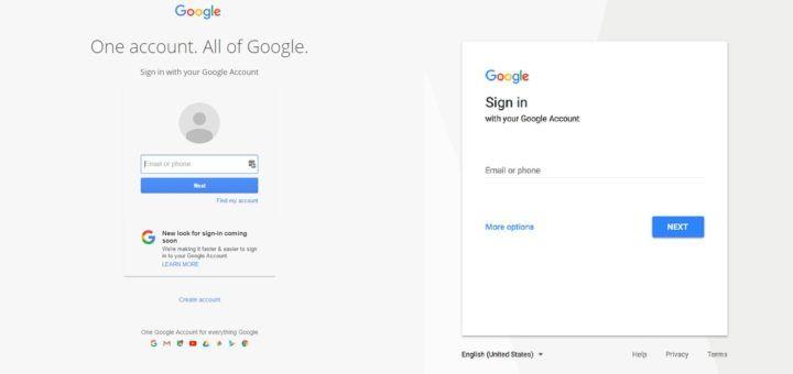 Google Sign-In UI