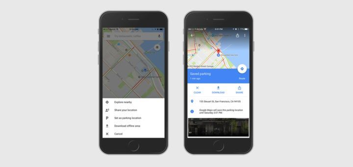 Google Maps For iOS - Parking Feature