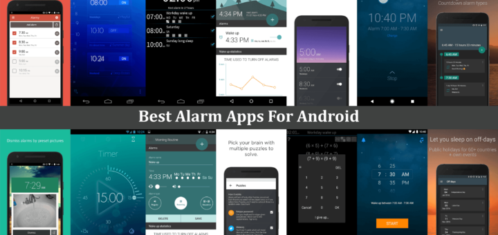 Android Alarm Clock Apps