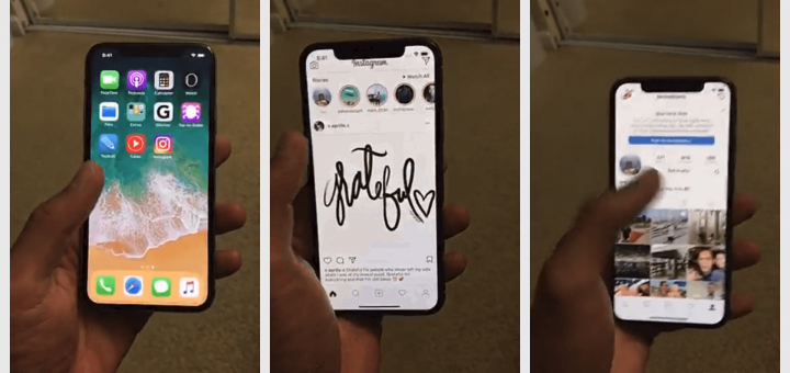 Apple iPhone X Running Instagram