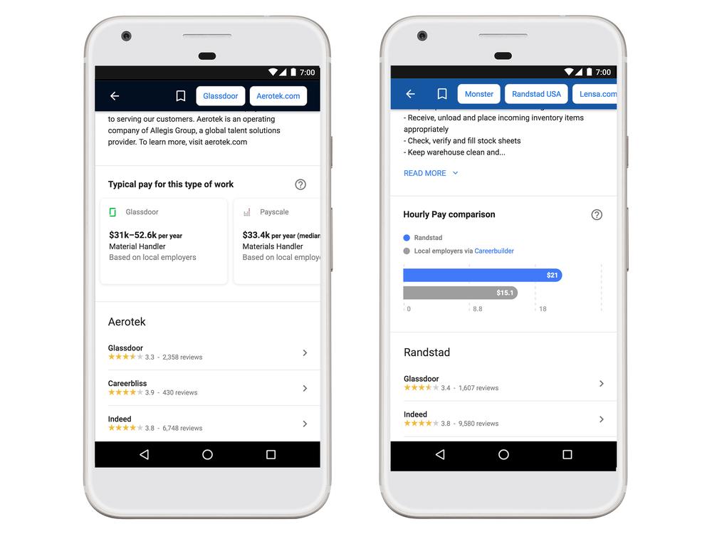 Google Job Search - Salary Stats