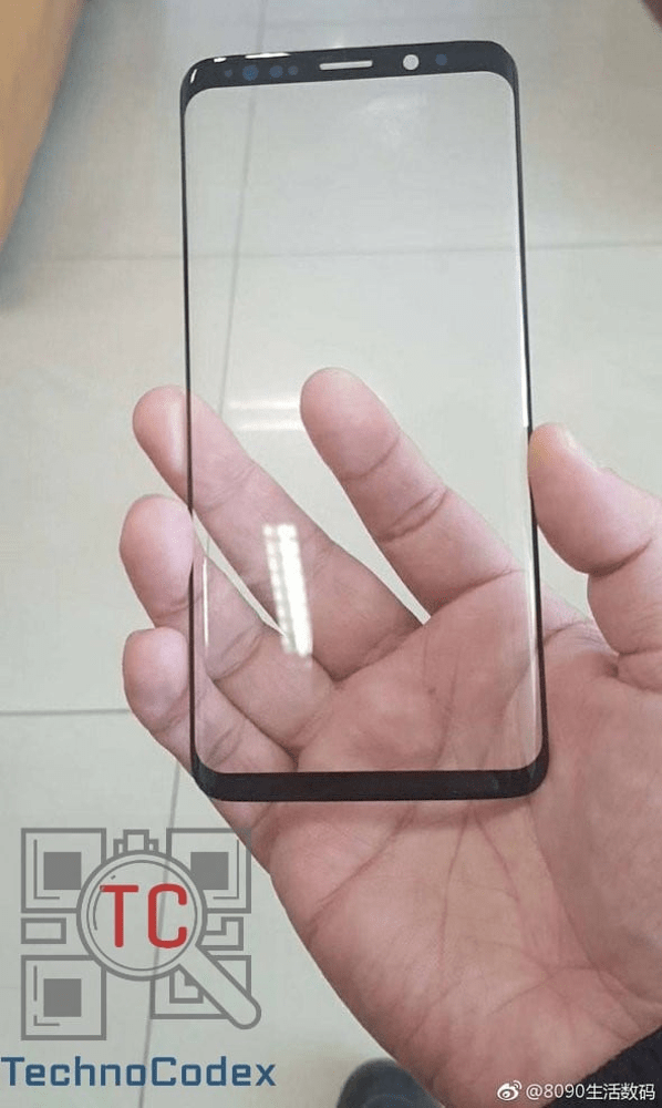 Alleged Samsung Galaxy S9 Front Panel