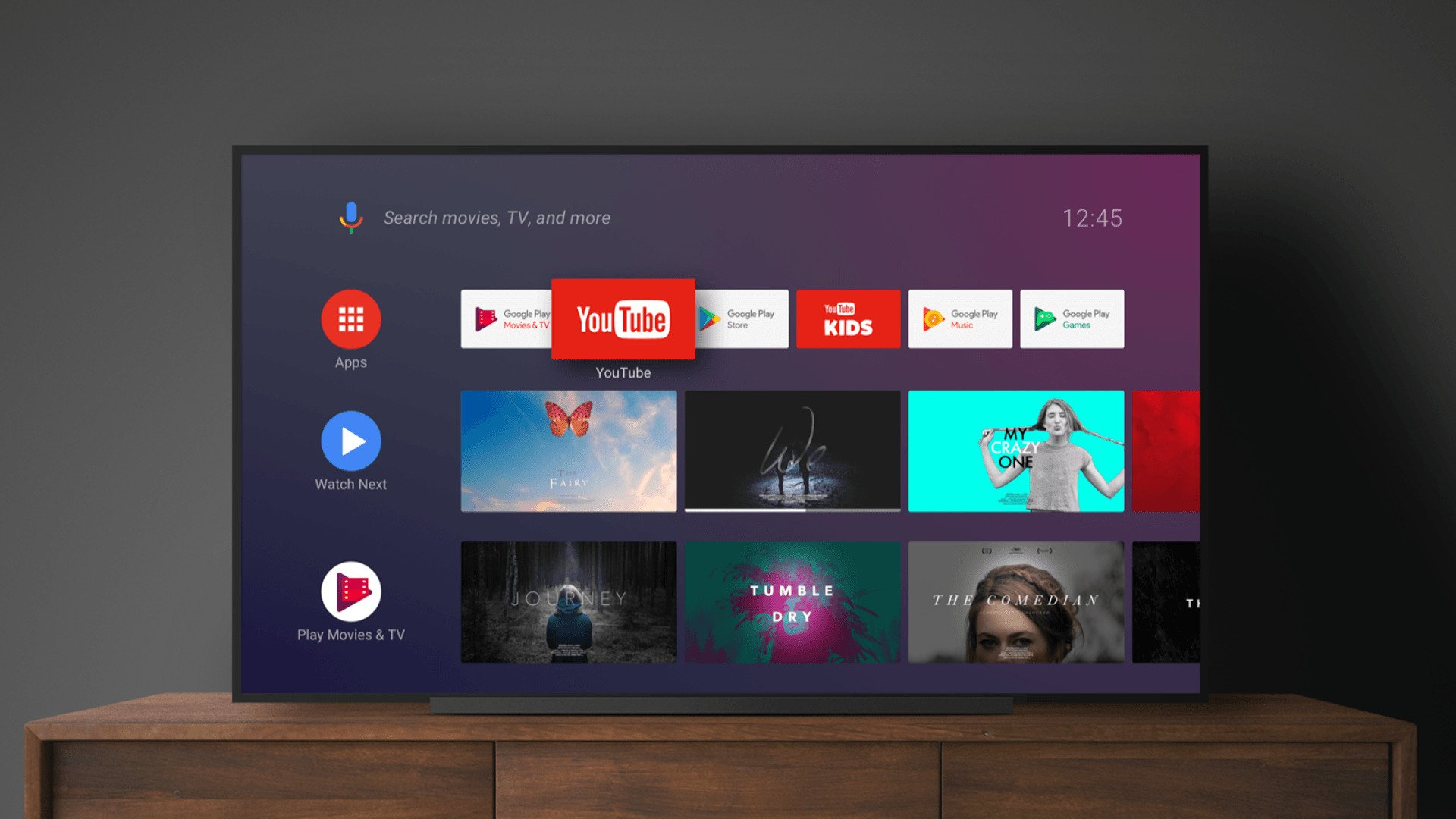 how to use google play on tv
