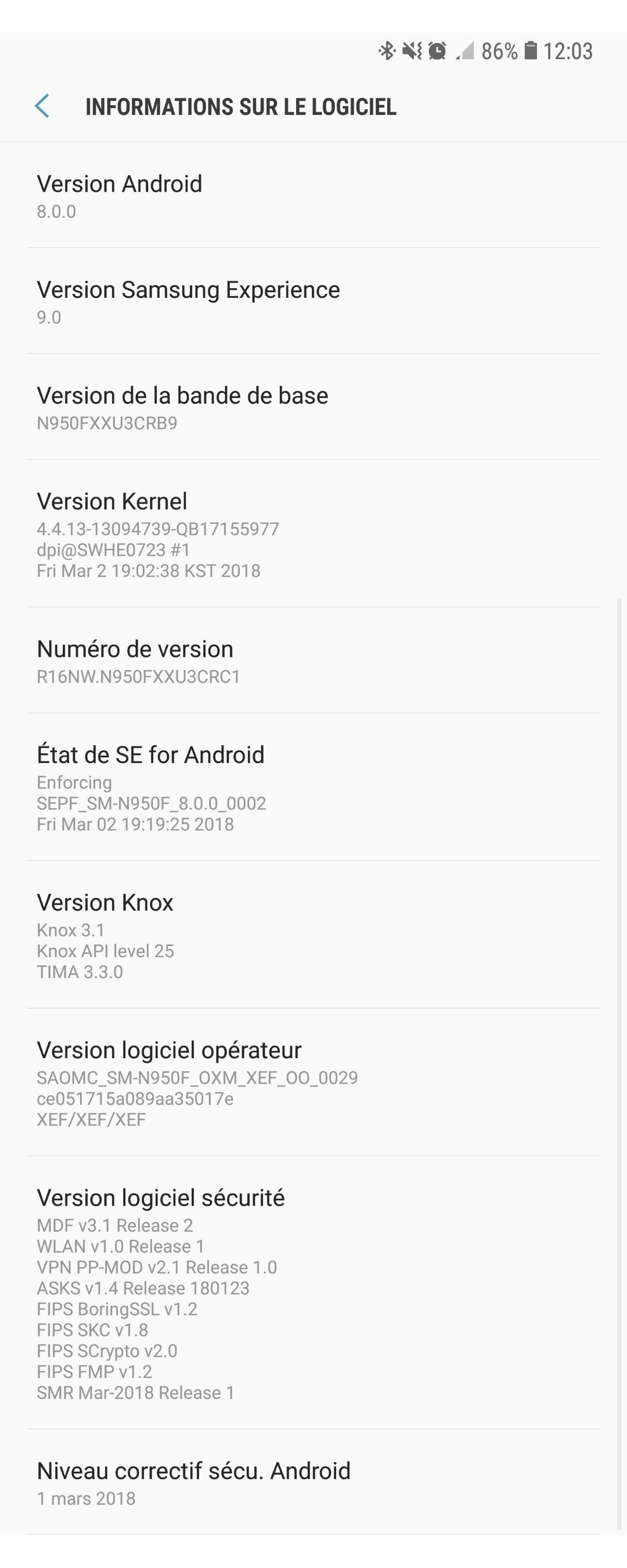 Samsung Galaxy Note 8 - Oreo Update