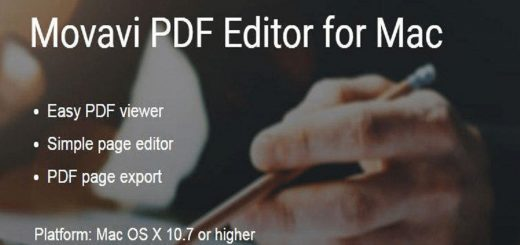 Movavi PDF Editor For Mac