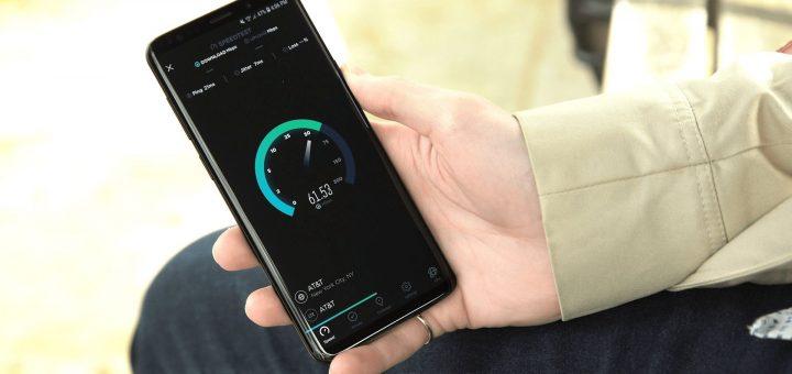 Samsung Galaxy S9 - Ookla Speedtest
