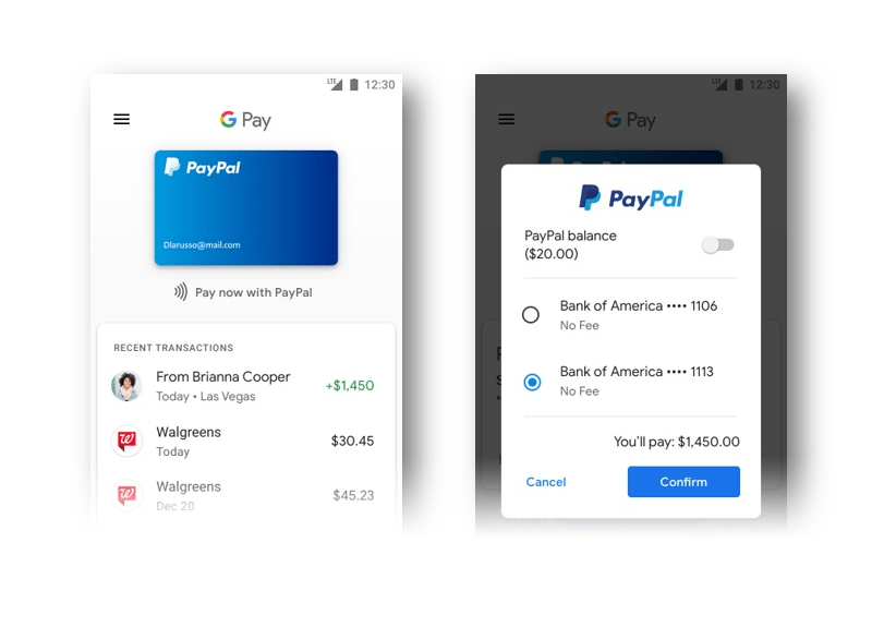 PayPal Support In Google Services