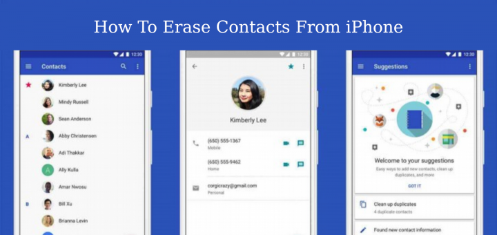 Erase Contacts From iPhone