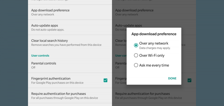 how to see google play app download history