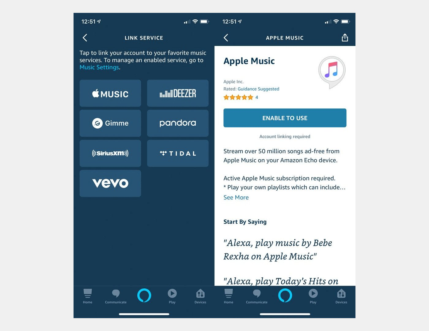 Apple Music Integration with Amazon Echo Speaker