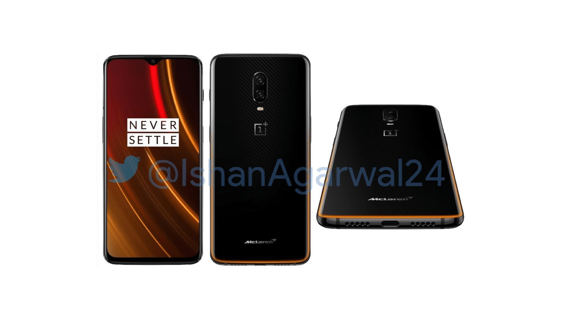 Upcoming OnePlus 6T McLaren Edition official renders leaked online