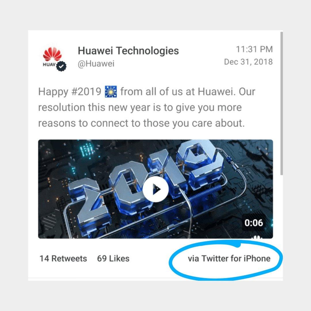 Huawei - Tweet from iPhone