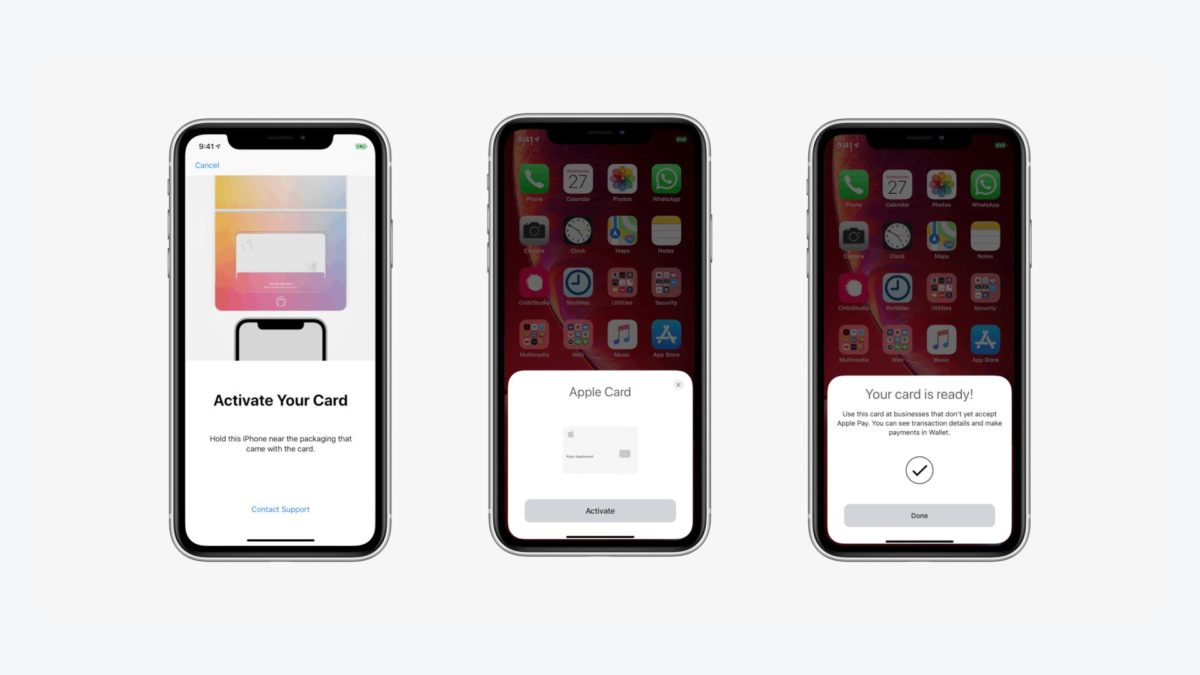 Apple Card activation on iPhone