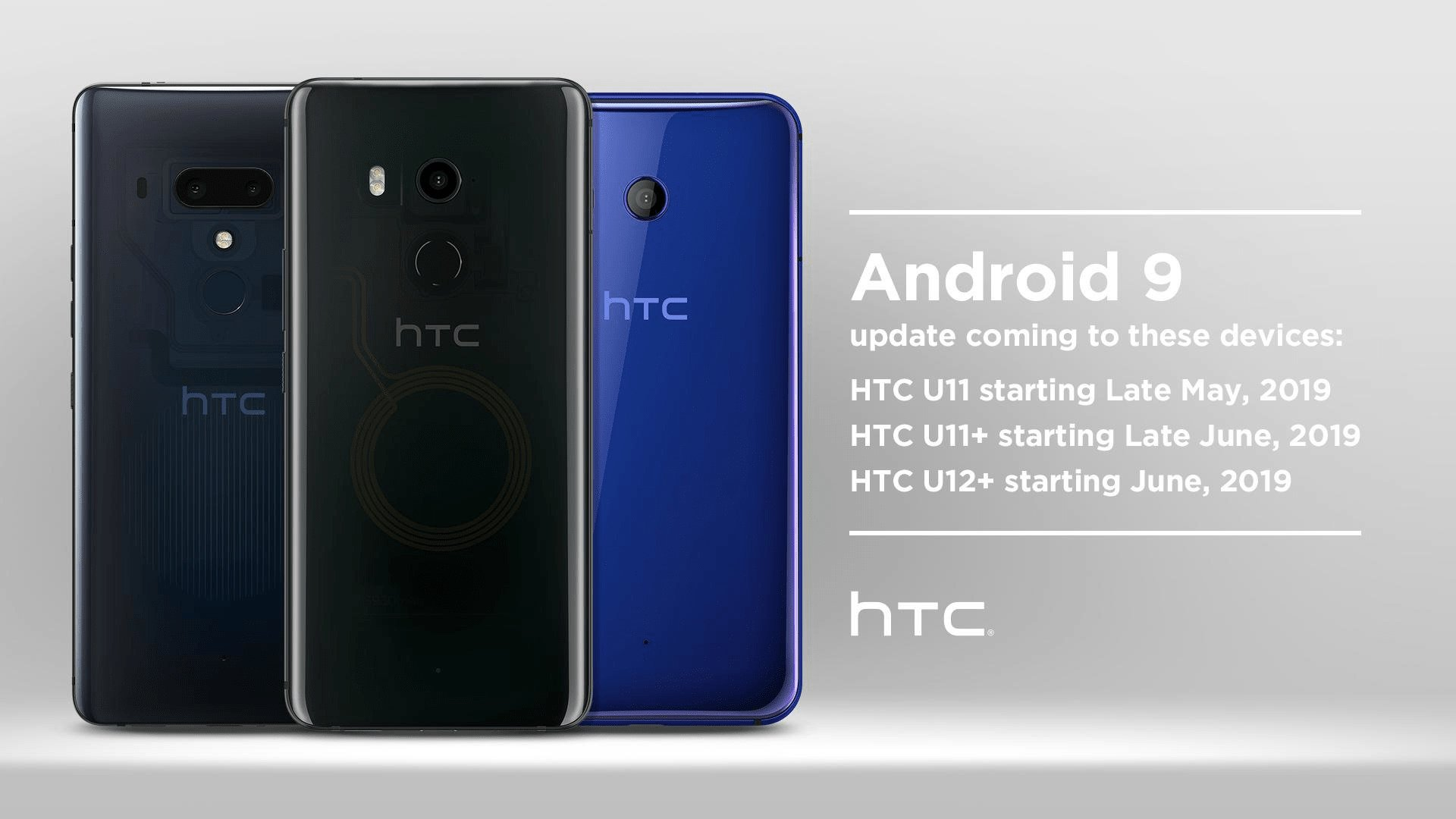 HTC Android Pie Update Timeline for HTC U11, U11+, and U12+
