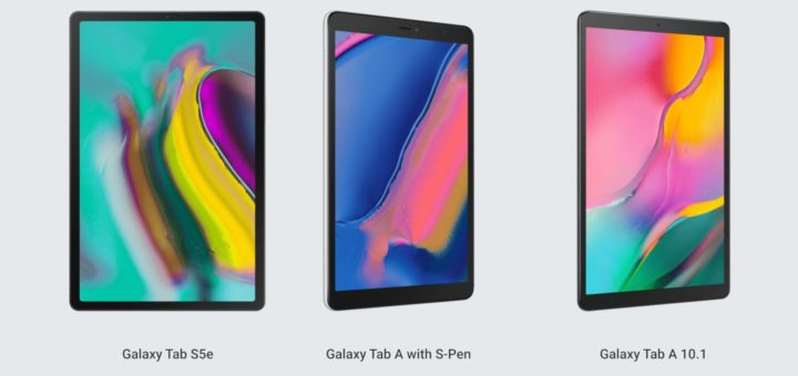 Galaxy Tab S5e, Tab A 10.1 and Tab A with S-Pen