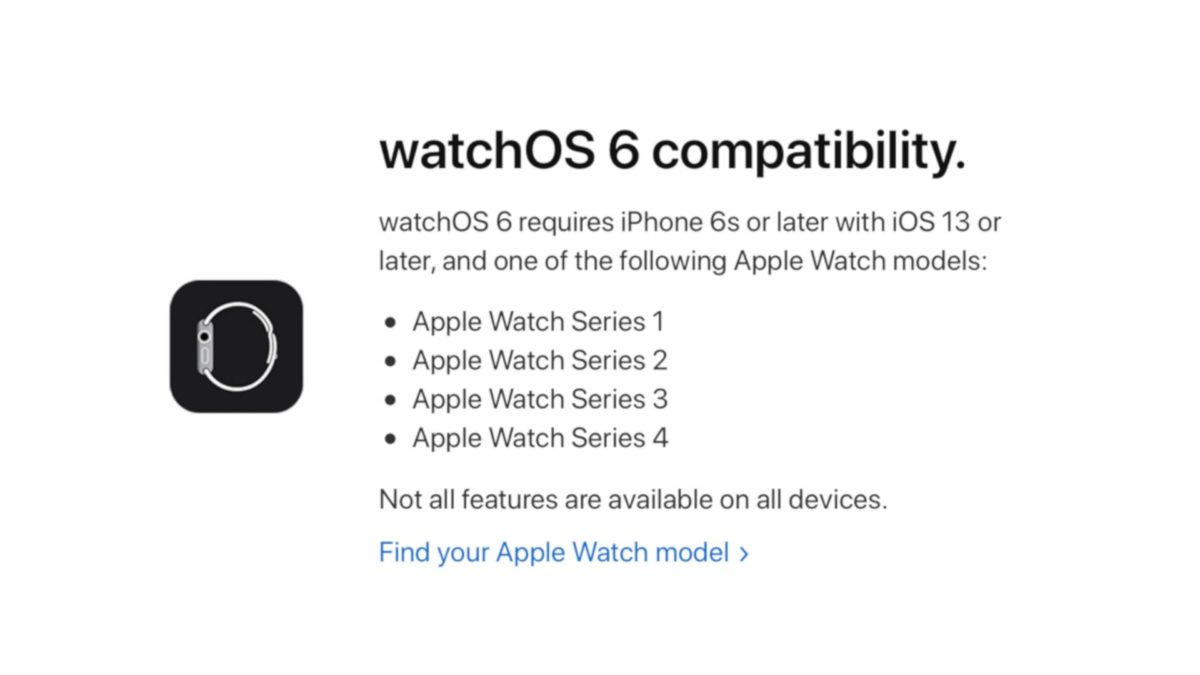 Apple watchOS 6 Release Notes