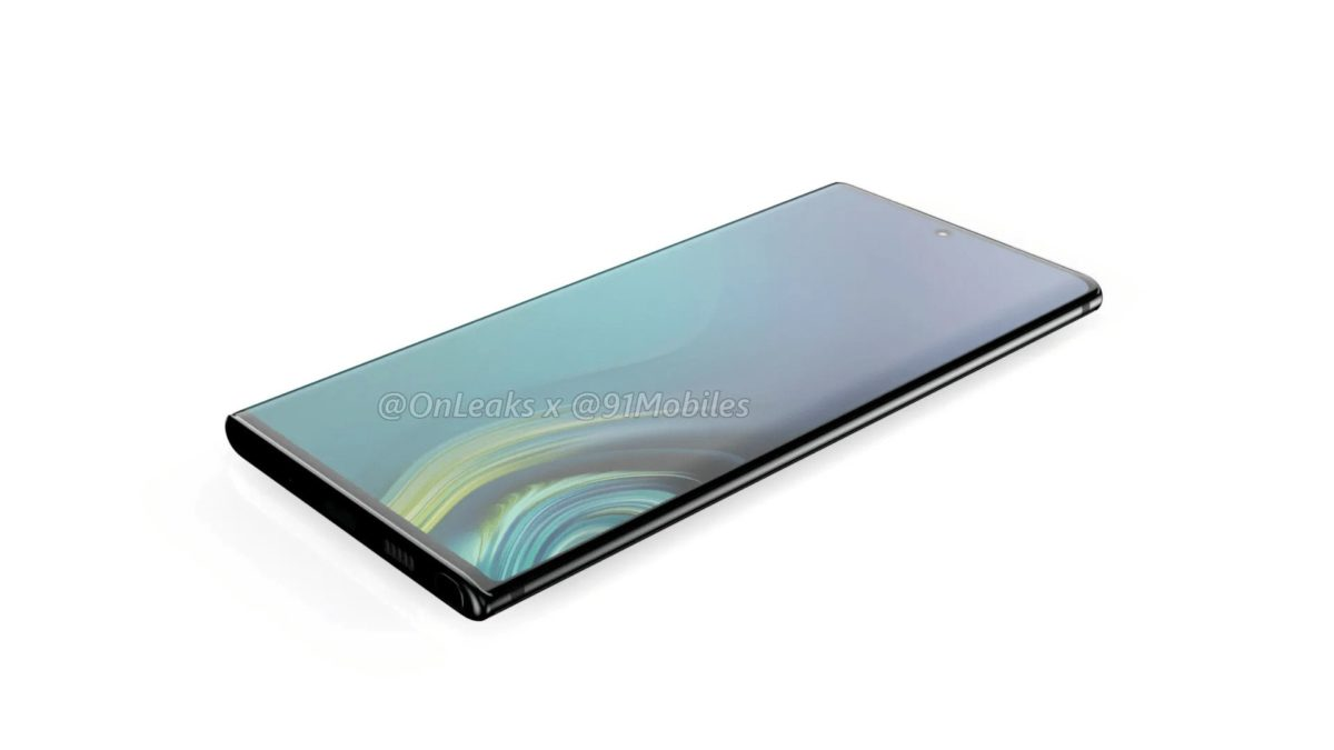 Samsung Galaxy Note 10 Leaked Render Images